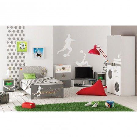 les 25 meilleures id es de la cat gorie chambre football pour gar on sur pinterest gar ons. Black Bedroom Furniture Sets. Home Design Ideas