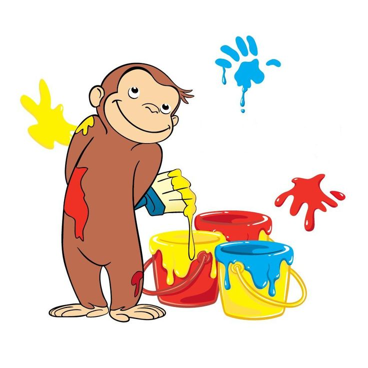 Curious george name favor tag put this image in word and for Curious george mural