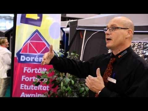 Dorema-teltat ensi kertaa Suomessa. -- Dorema awnings introduced to Finland.  www.caravanuutiset.com