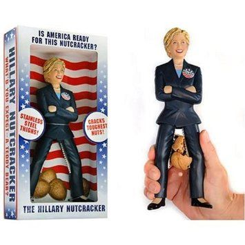 The Hillary Nutcracker - http://www.crackformen.com/the-hillary-nutcracker - #Clinton