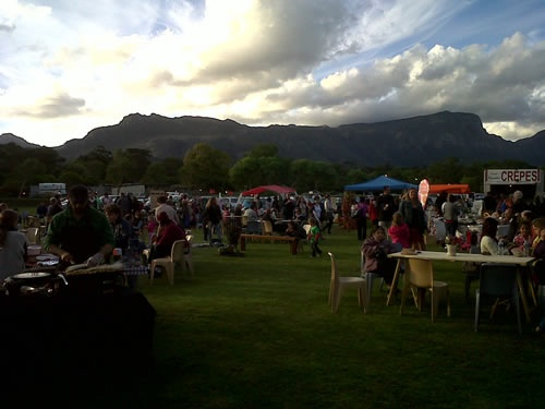 The evening night markets at Constantia Waldorf School are held on the last Friday of each month between October and April. Organic foods, arts and crafts and live music. Bring the family and a picnic