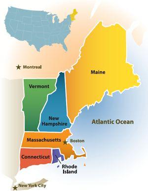 New England: Maine, New Hampshire, Vermont, Massachusetts, Conneticut & Rhode Island ... yes, all in one long trip :)