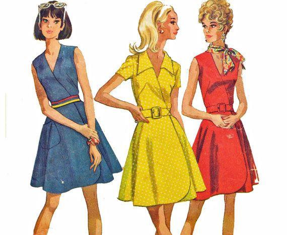 60s Dress Pattern / McCalls 9635 Wrap Dress by ScarlettsVault