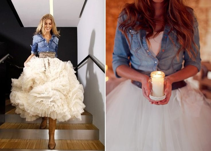 Blue Jean Baby: Denim Jackets I would so get married in this..loving it..