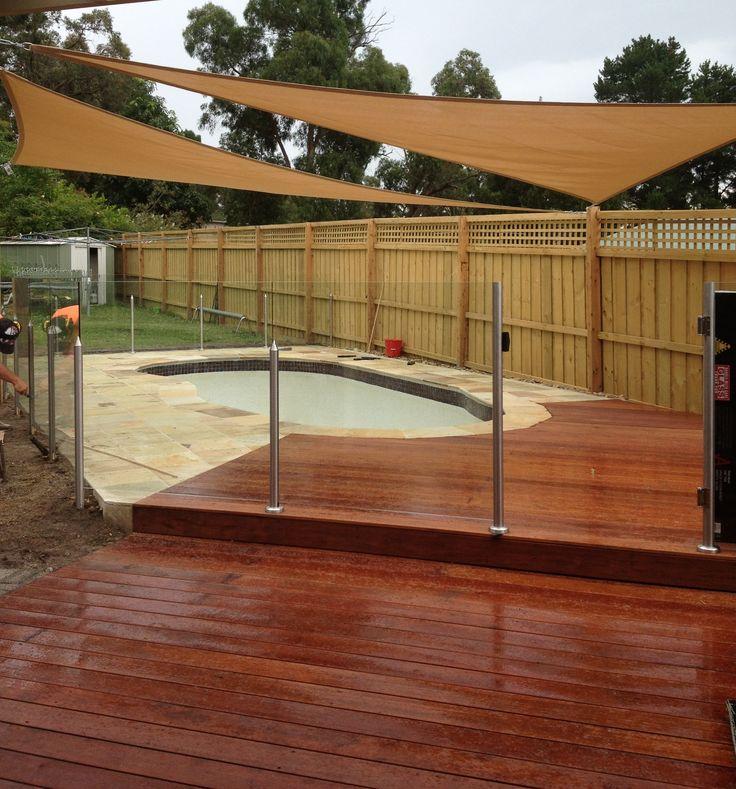 Merbau Deck and Sandstone Paving