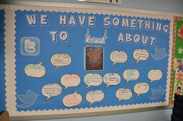 twitter bulletin board!  What a fun way to get students writing!:)