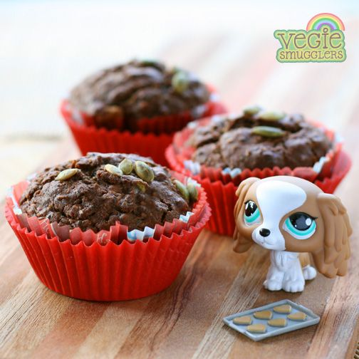 lunchbox perfection - chocolate seed muffins. nut free!