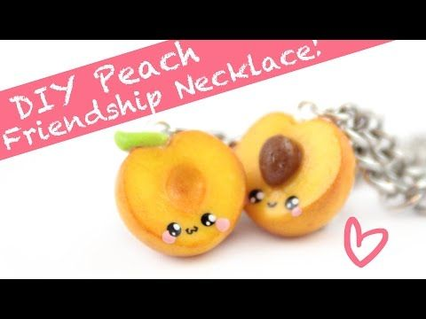 Kawaii Peaches Friendship Charms polymer clay tutorial