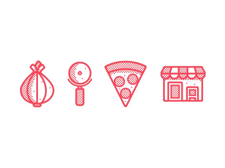 Pizza Icons by Mario Jacome