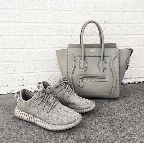 Yzy boost Adidas sneakers - celine tote bag http://www.justtrendygirls.com/yzy-boost-adidas-sneakers/