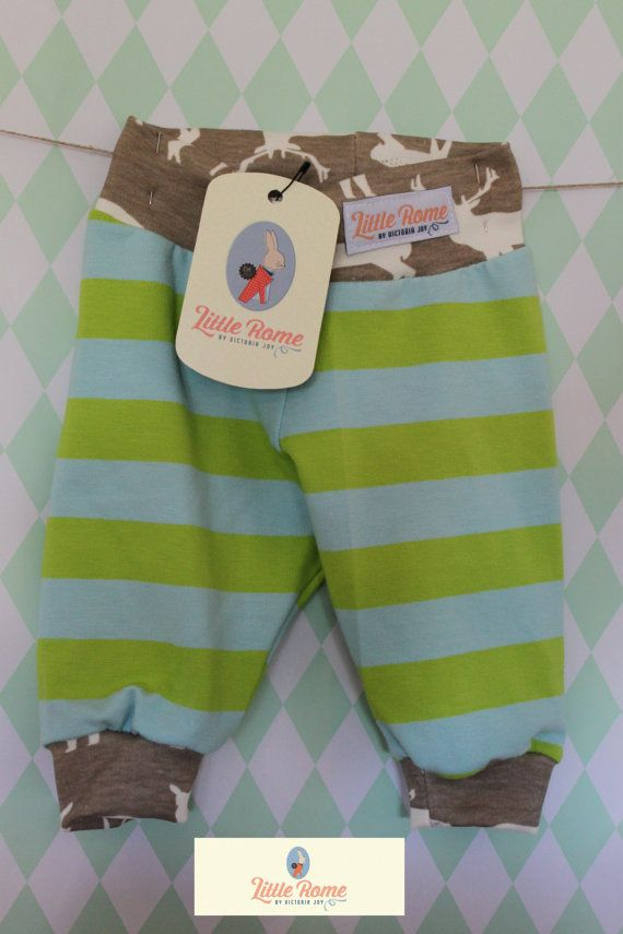 Little Rome's loose fitting baby pants, 100% Organic Jersey Cotton. SIZE 56, 0-3 months.