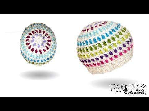 Mütze bosnisch häkeln - Hazelnut Beanie Teil 1 - Kettmaschen häkeln - YouTube