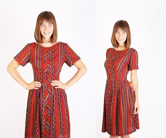 Vintage 50er Jahre Mad Men Fashion Dress / Herbst Mode / Herbst / fallen / Kleid / Kleider / Mad Men / Peggy Mad Men / 1282