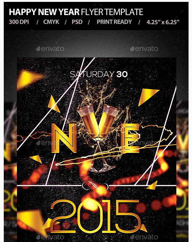 26 Best New Year Flyer Template Images On Pinterest | Business