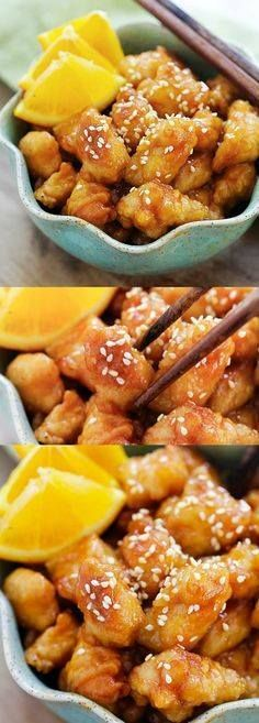 Orange chicken  eas Orange chicken  easy homemade orange...  Orange chicken  eas Orange chicken  easy homemade orange chicken recipe that takes 30 mins to make. Its healthier and much better than Panda Express and Chinese takeout | rasamalaysia.com Recipe : http://ift.tt/1hGiZgA And @ItsNutella  http://ift.tt/2v8iUYW