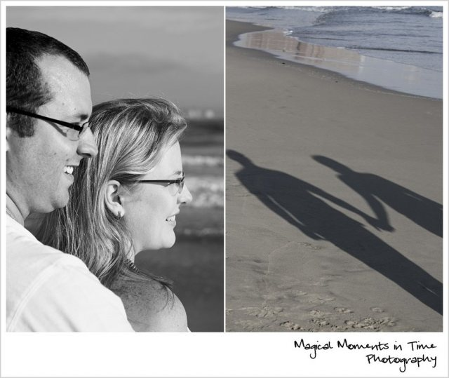Durban Engagement Session | Magical Moments in Time Photography {Black and White Couple | holding hands silhouette}