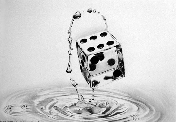 dice water drawing