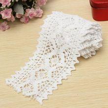 2 Yard Long klasická bavlna Biela háčkovaná čipka vrúbkovanie vzoru DIY vyšívané Šijací Stretch hranice korekcie (Čína (pevninská časť))