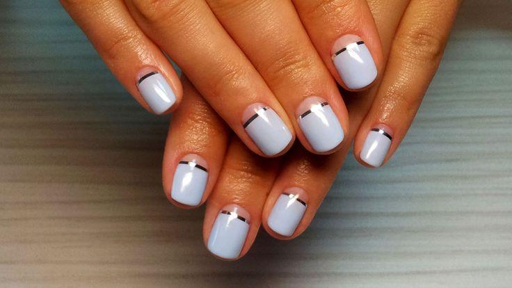 Дизайн ногтей гель-лак shellac - Декоративная лента (видео уроки дизайна...