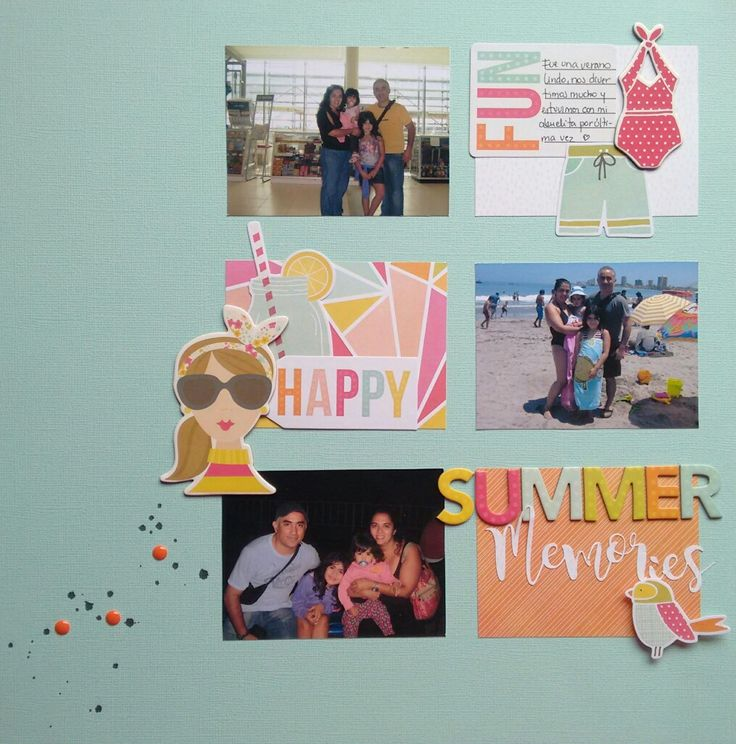 Summer layout using @simplestories Sunshine and Happinness collection