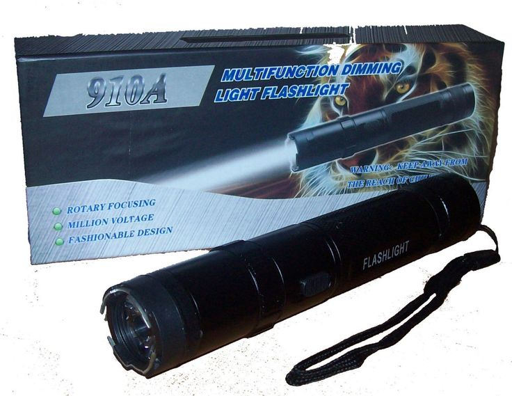 Flashlight with Electric led POLICE 4 functions