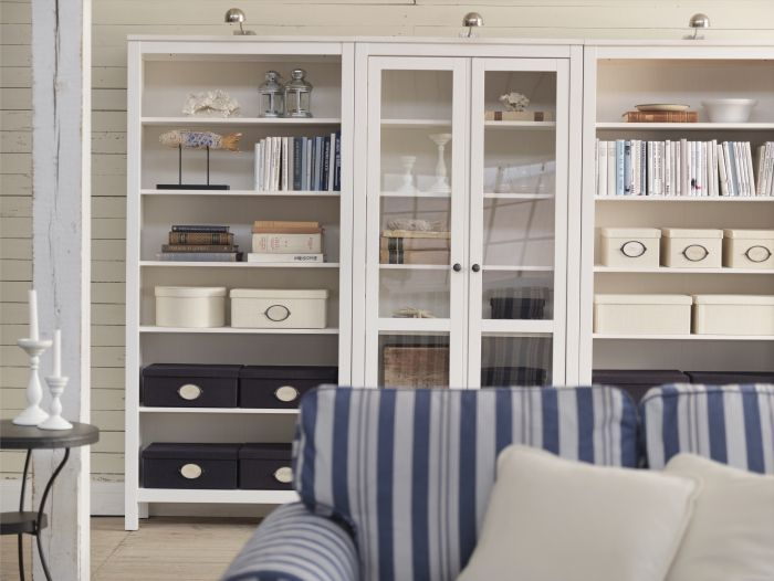 It may be traditional in style, but smart functions make our HEMNES storage furniture series right at home in a modern living room.