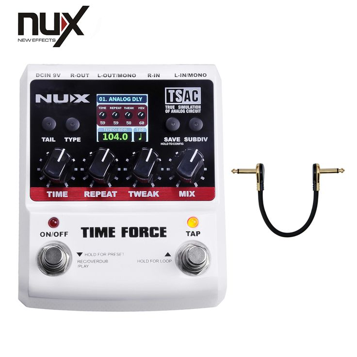 NUX Effect Pedal/Stomp Boxes/Force series/TIME FORCE Multi Digital Delay best guitar pedal/free shipping