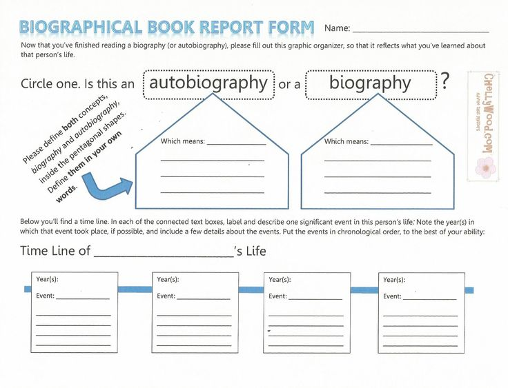 47 best Reading Class Handouts and Activities images on Pinterest - biography report template