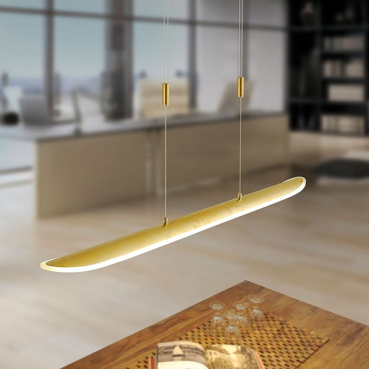 SKAPETZE -    Skate LED Pendelleuchte dimmbar / 25W / 3000K / Goldfarben Innenleuchten Pendelleuchten
