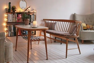 Sandra Juto via My Scandinavian Retreat. Mid-century furnishing, lights and flooring - love it all.