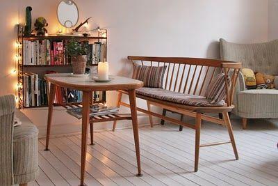 Sandra Juto via My Scandinavian Retreat. Mid-century furnishing, lights and flooring - love it all.