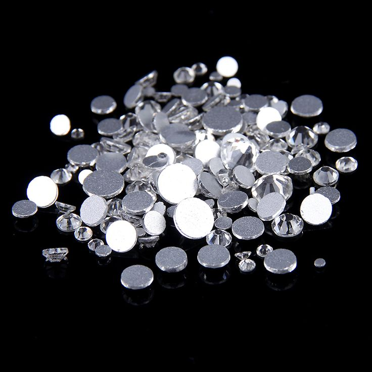 Nail Rhinestones New Mixed Sizes ss3-ss12 5g Nail Art Decoration Flatback Glass Stones Shiny Gems DIY Gems Craft Art Stone