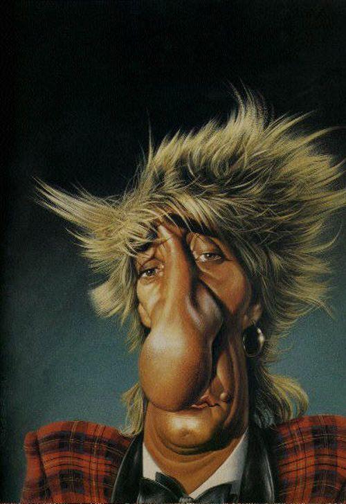Rod Stewart Caricature (Image Source: Subdude-site)
