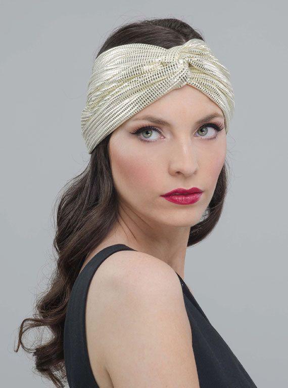 Gold Twisted Headband Turban Twist Headband Golden by Banditame