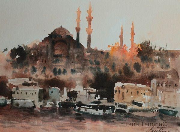 #istanbul #paintings #watercolor #art