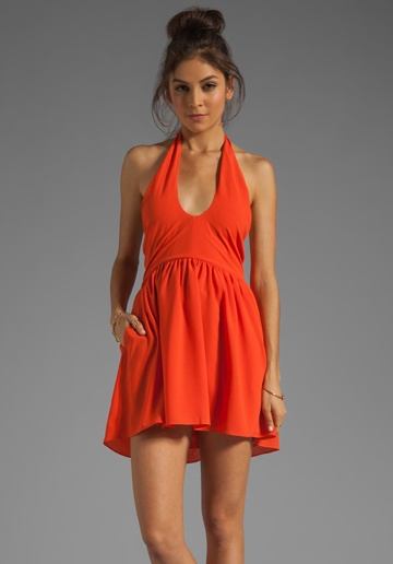 LOVERS + FRIENDS Sacred Heart Dress in Tangerine