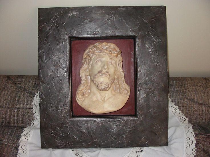 Cuadro Cristo, marco simil metal