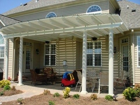 Cool solution for outdoor enjoyment.  Add a pergola with a polycarbonate roof.
