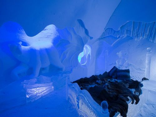 Hotel de Grace, Quebec, CA  I hate to be cold, but can't resist the thought of an ice hotel.  Crazy cold!