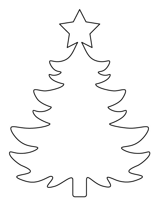 printable large christmas tree pattern use the pattern for crafts creating stencils scrapbooking - Holiday Stencils Free Printables