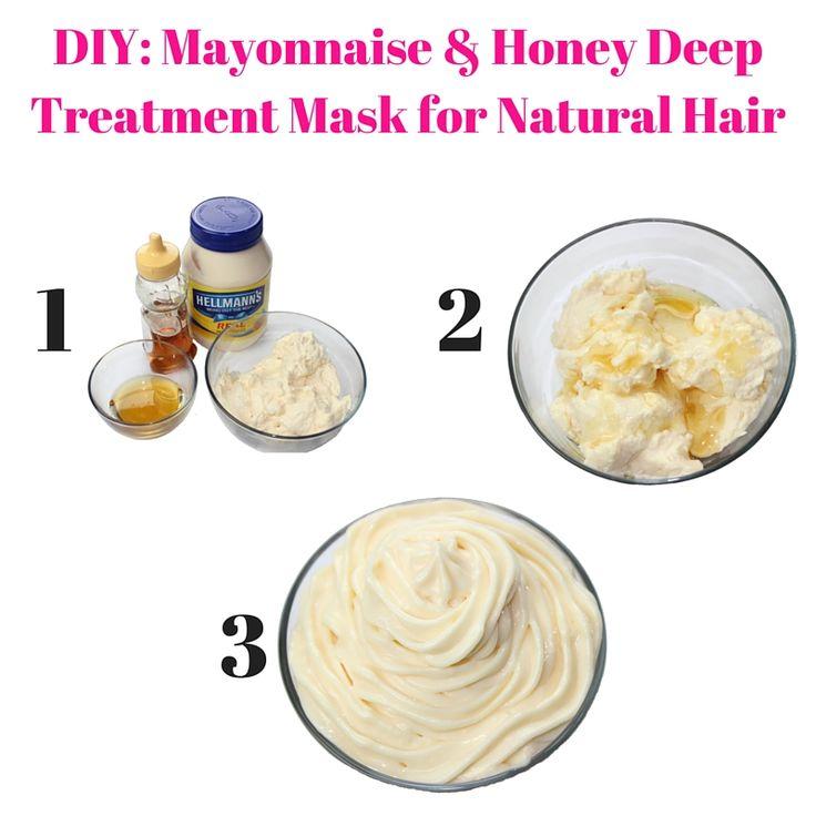 DIY- Mayonnaise & Honey Deep Treatment Mask for Natural Hair (1)