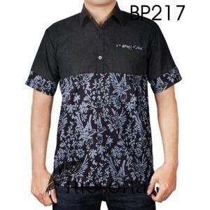 Kemeja Batik Kombinasi Denim dengan Kode BP217