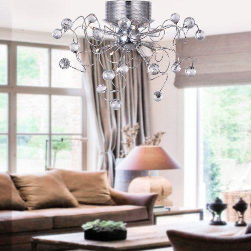 ALFRED Plafoniere Lampadario di cristallo moderno con 9 luci montaggio ...