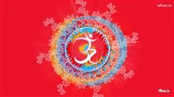 OM Painting With Red Background HD Wallpaper,OM HD Wallpaper And Images,OM Art Wallpaper,OM Painting Wallpaper