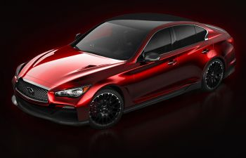 This is the Infiniti Q50 Eau Rouge concept. Hot or not?