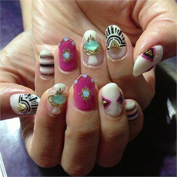 Day 135: Geometric Nail Art www.nailsmag.com
