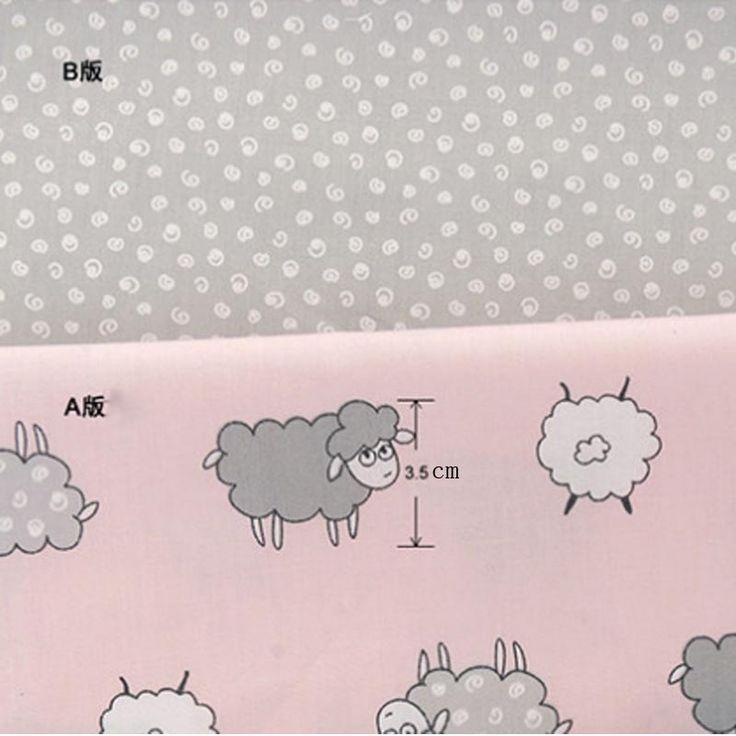 50 * 160 см 2 шт./лот 100% хлопок саржевые мультфильм вьющиеся милые овцы розовый AB ткани DIY для детей палатка лоскутное стегальную buddle тканикупить в магазине Ai Guo Trading Co., Ltd.наAliExpress