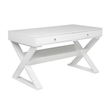 Love the clean lines in this desk!  Perfect for our office at home.   #zgallerie
