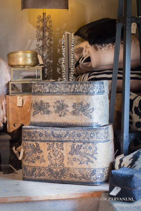 Parvani | Oude opbergdozen China.