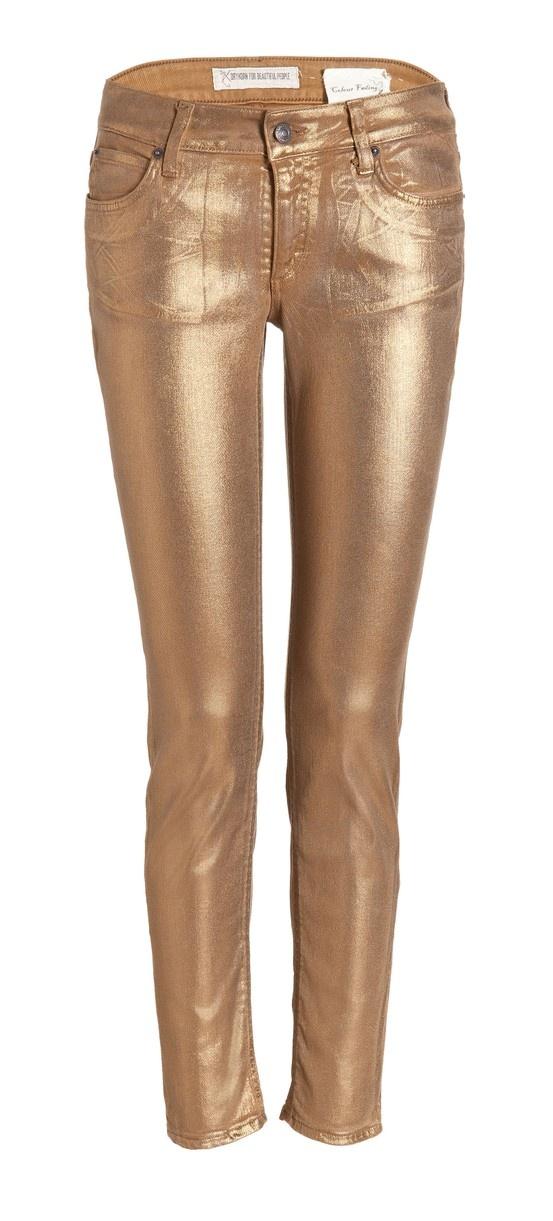 For when Im feeling golden ,) Gold jeans